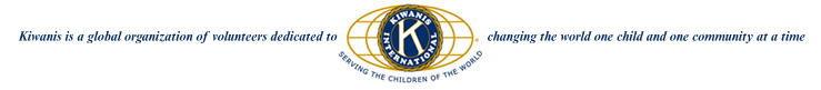 Kiwanis International Logo: Changing the world, one child and one community at a time